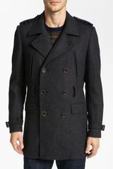 Ted Baker Normac Wool Blend Trench Coat - Lyst