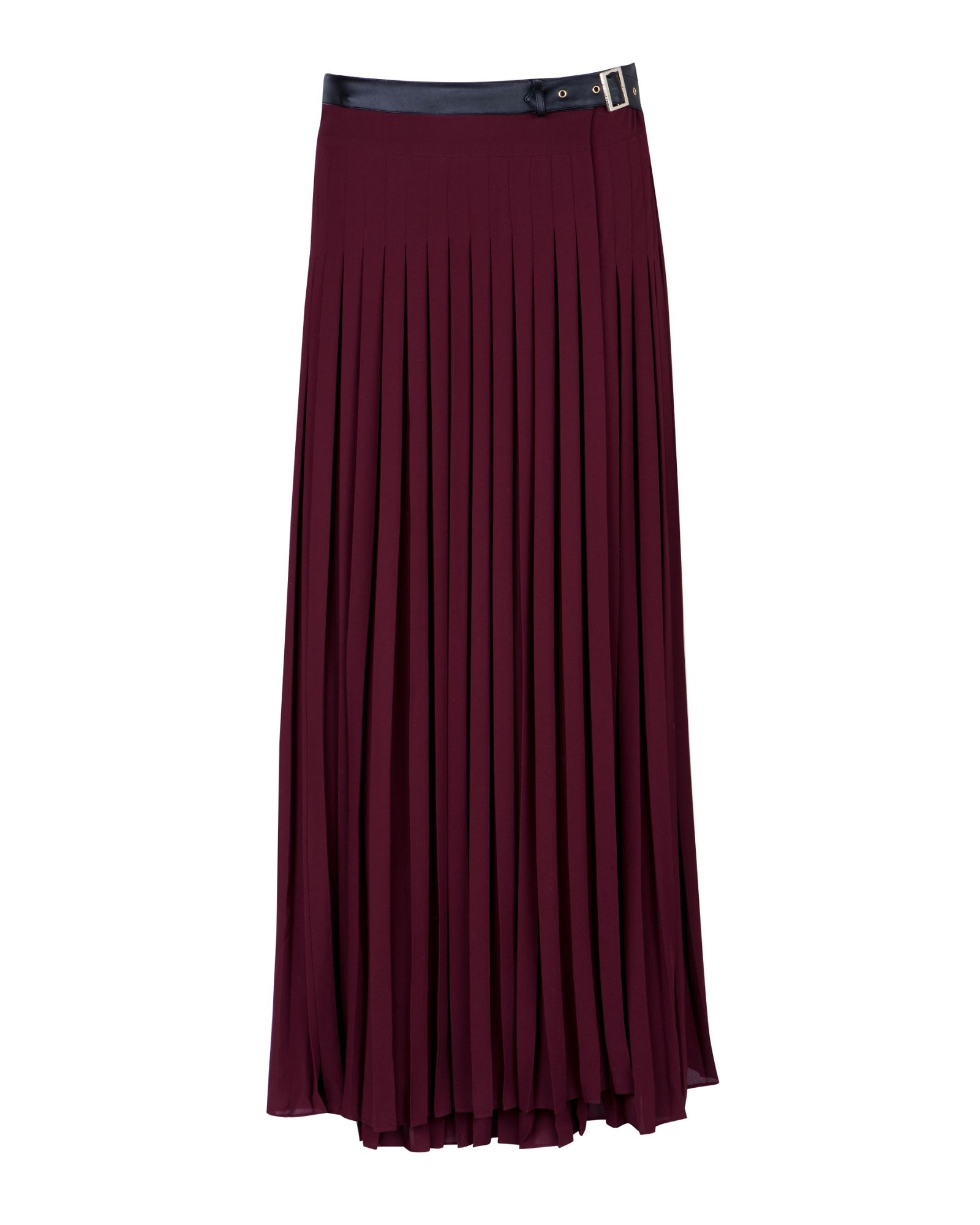 ted baker ted baker galva pleated maxi skirt in lyst