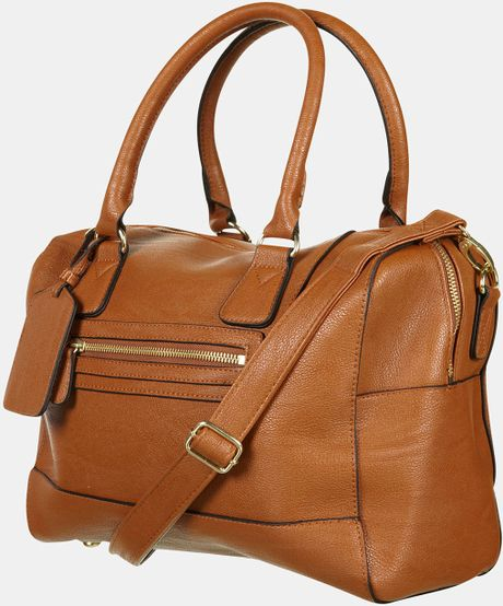 Topshop Bowling Bag in Brown (tan)
