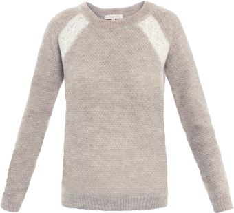 Vanessa Bruno Lace Shoulder Mohair Sweater - Lyst