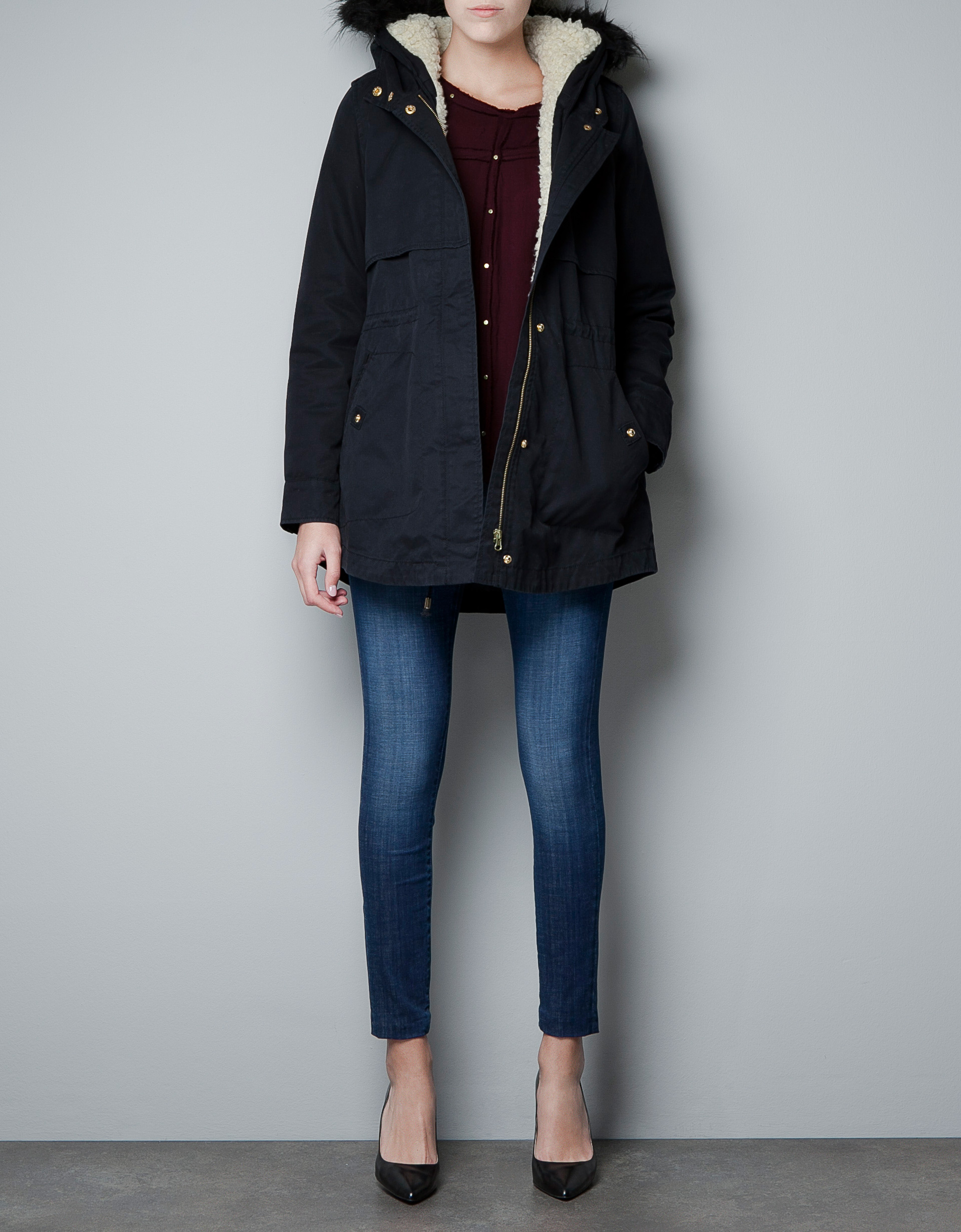 Navy Blue Parka Womens Uk: Ex blue inc ladies parka coat womens ...