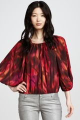 Alice + Olivia Moe Peasant Top - Lyst