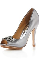 Badgley Mischka Susan Metallic Pump - Lyst