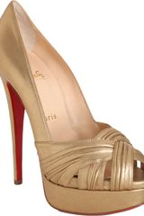 Christian Louboutin Aborina in Gold - Lyst