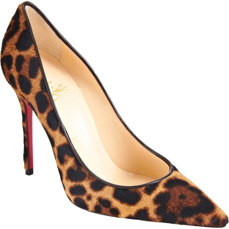 Christian Louboutin Decollete 554 in Animal (leopard) - Lyst