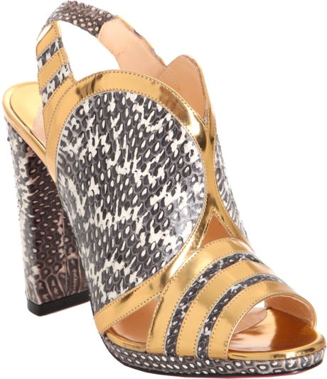 Christian Louboutin Fourmi in Animal (roccia) - Lyst