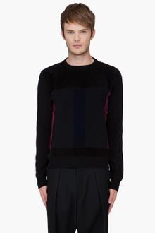 Christopher Kane Black Flock Panel Sweater - Lyst
