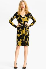 Diane Von Furstenberg Richley Dove Bloom Wrap Dress - Lyst