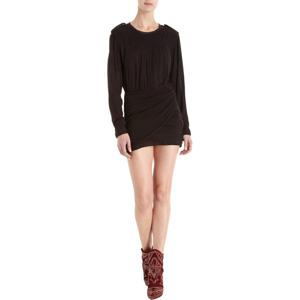 Etoile Isabel Marant Laloo Dress in Black
