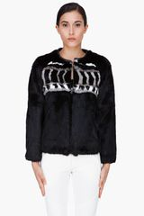 Iro Black Rabbit Fur Jacket - Lyst