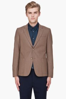 Kenzo Light Brown Constructed Blazer - Lyst