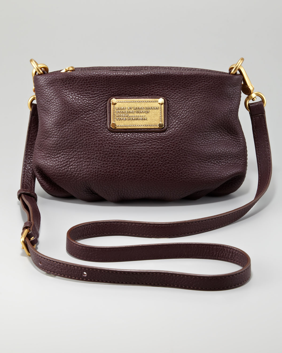 Marc by marc jacobs Classic Q Percy Crossbody Bag in Brown | Lyst