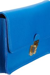 Marc Jacobs Venetia Matte Clutch in Blue (gold) - Lyst
