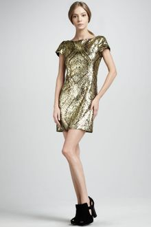 Nanette Lepore Gold Society Sequined Dress - Lyst