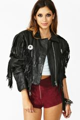 Nasty Gal Fringed Moto Jacket - Lyst