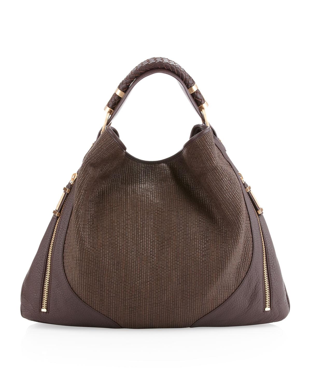 ebb6cf5e7ab4 Rachel Zoe Joni Woven Hobo Bag Brandy in Brown (brandy)