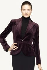 Ralph Lauren Black Label Short Velvet Luann Jacket - Lyst