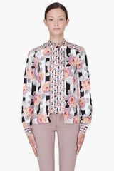 Suno Peach Silk Paper Rose Blouse - Lyst