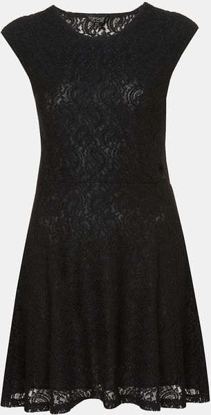 Topshop Paisley Lace Dress - Lyst