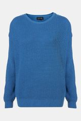 Topshop Textured Knit Sweater - Lyst