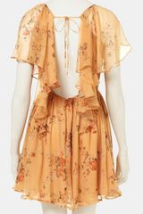 Topshop Autumn Meadow Print Dress in Yellow (multi) - Lyst