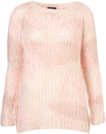 Topshop Knitted Patchwork Jumper - Lyst