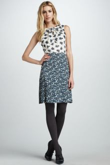 Tory Burch Cecilia Mixed Print Dress - Lyst