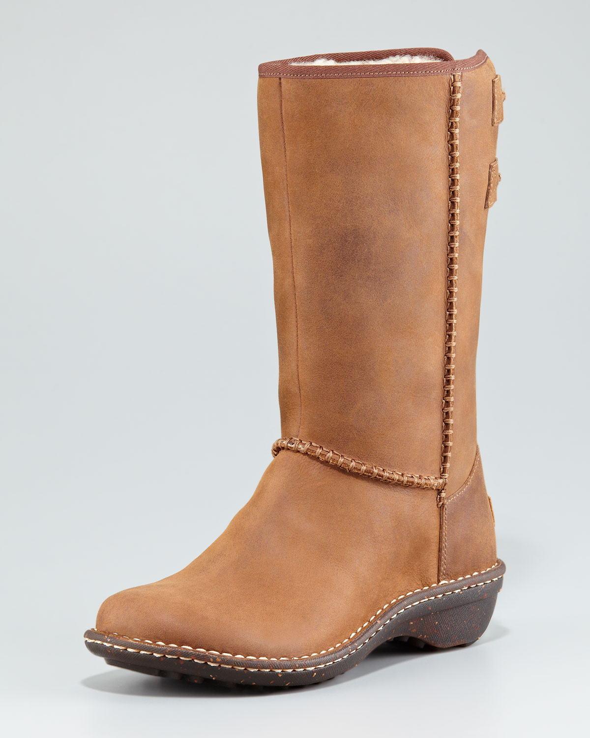 ugg haywell leather weather boot in brown chocolate lyst