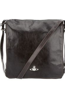 Vivienne Westwood Leather Messenger Bag - Lyst