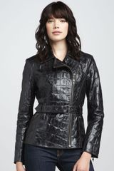 What Goes Around Comes Around Belted Leather Jacket - Lyst