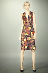 Erdem Veronica Sleeveless Dress in Multicolor (black) - Lyst