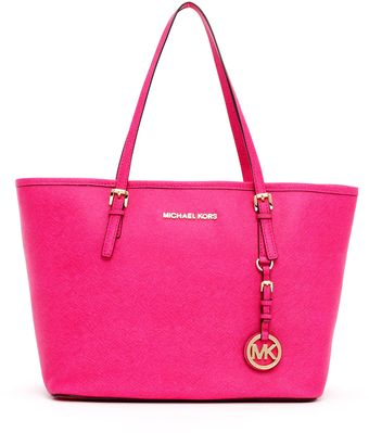 Michael by Michael Kors Small Jet Set Saffiano Travel Tote - Lyst