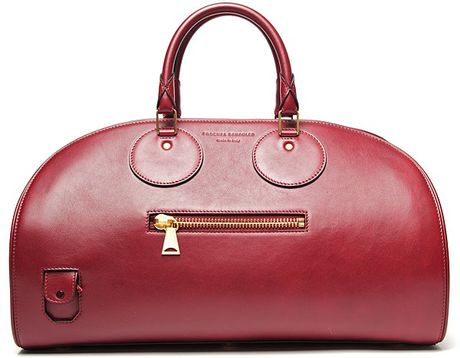 Proenza Schouler Kiri Leather Bowling Bag in Red (gold)