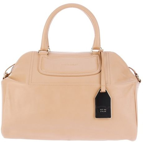 See By Chloé Large Embossed Tote in Pink