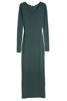 Long Sleeve Maxi Dress on By Alexander Wang Fitted Long Sleeve Maxi Dress In Green  Mushroom