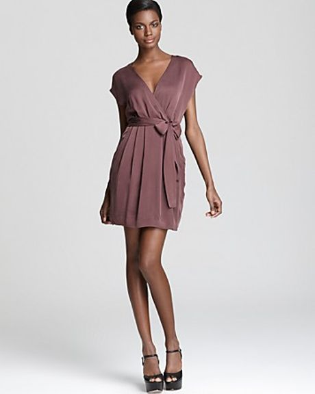 Theory Dress Talya Cicero in Purple (auburn smoke)