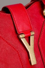 Yves Saint Laurent Cabas Chyc Tote in Red - Lyst