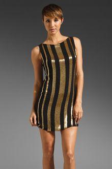 Black Sequin Dress on Alice   Olivia Randee Striped Sequined Dress In Black   Lyst