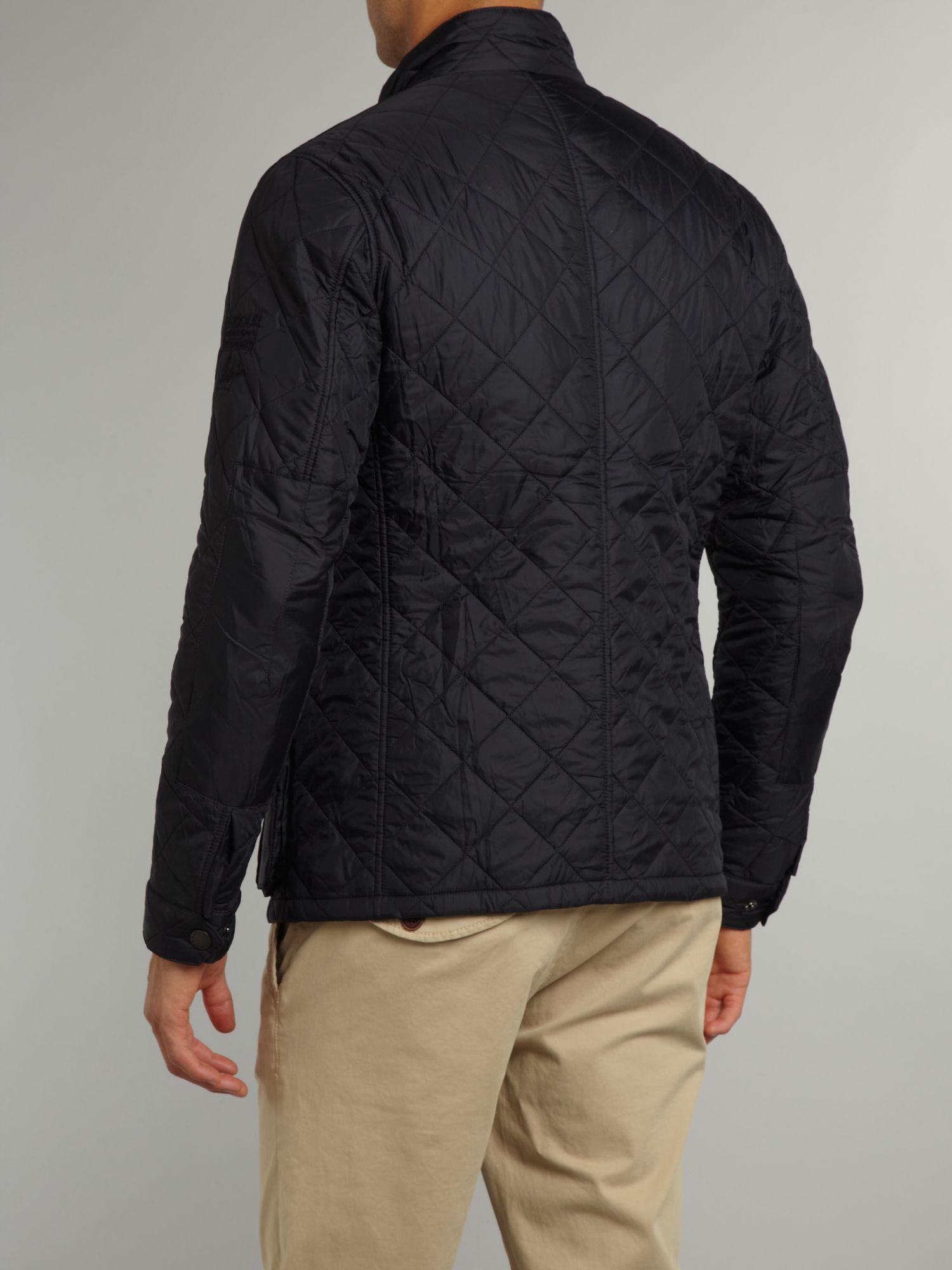 Lyst Barbour Quilted Steve Mcqueen Jefferies Jacket In Blue For Men