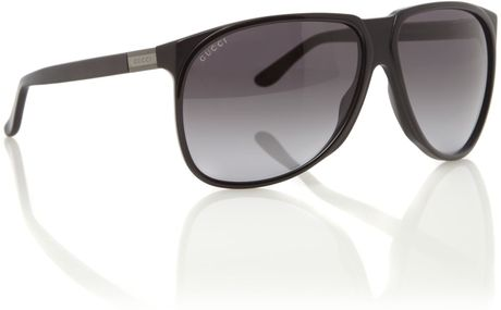 Gucci  Aviator Sunglasses in Black for Men - Lyst