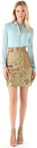 Matthew Williamson Embroidered Skirt - Lyst