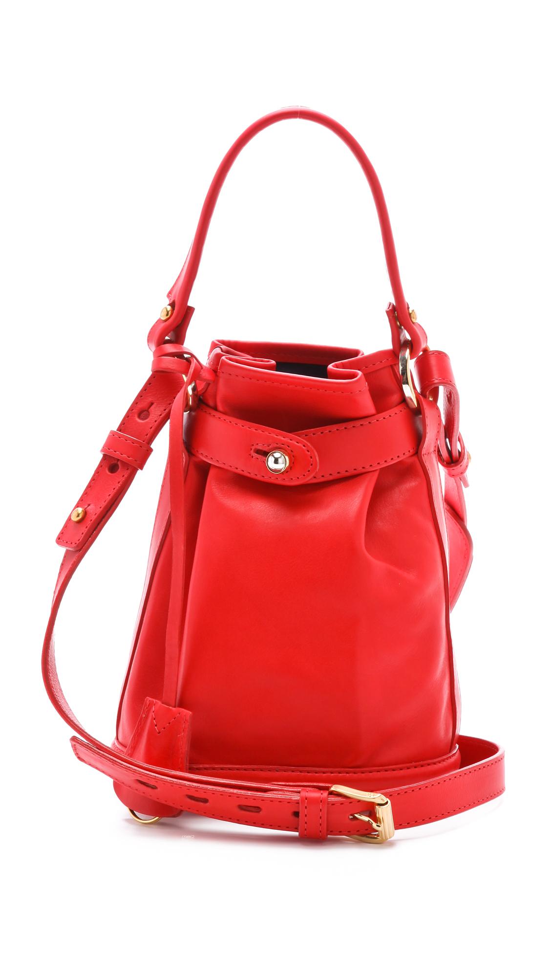 lyst opening ceremony pop up bag in red. Black Bedroom Furniture Sets. Home Design Ideas