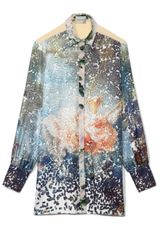 Peter Som Fragonard Pill Print On Twill Blouse