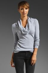 Splendid Thermal Cowl Neck Top - Lyst