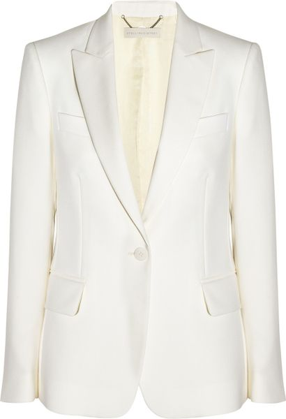 Stella Mccartney Iris Wool Blazer in White (ivory)