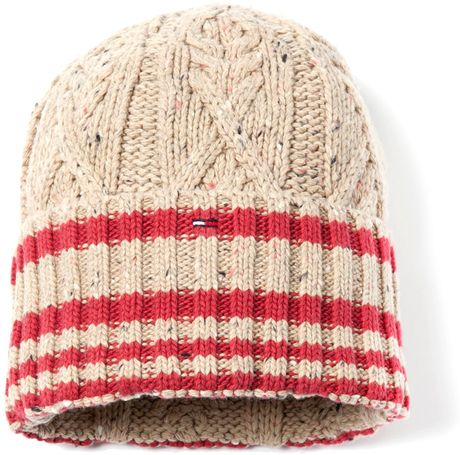 Tommy Hilfiger Iceland Beanie in Red for Men (grey) - Lyst