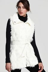 Via Spiga Faux Fur Vest in White (winter white) - Lyst