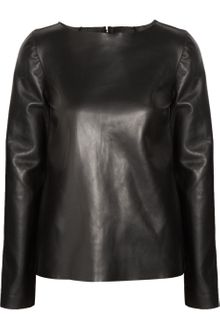 Yves Saint Laurent Leather Top - Lyst