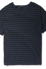 Alexander Wang T-Striped Cotton Jersey T-Shirt - Lyst