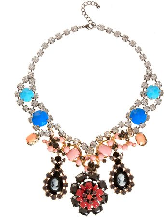 Asos Cameo Premium Statement Stone Necklace - Lyst
